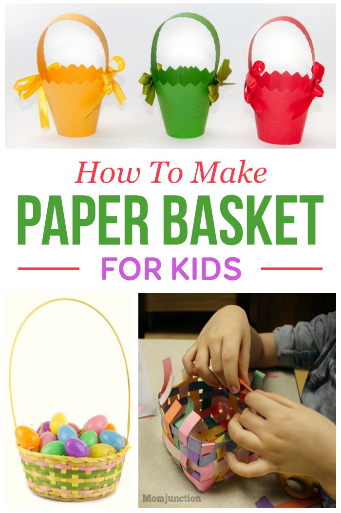 how to make a basket out of paper kids craft