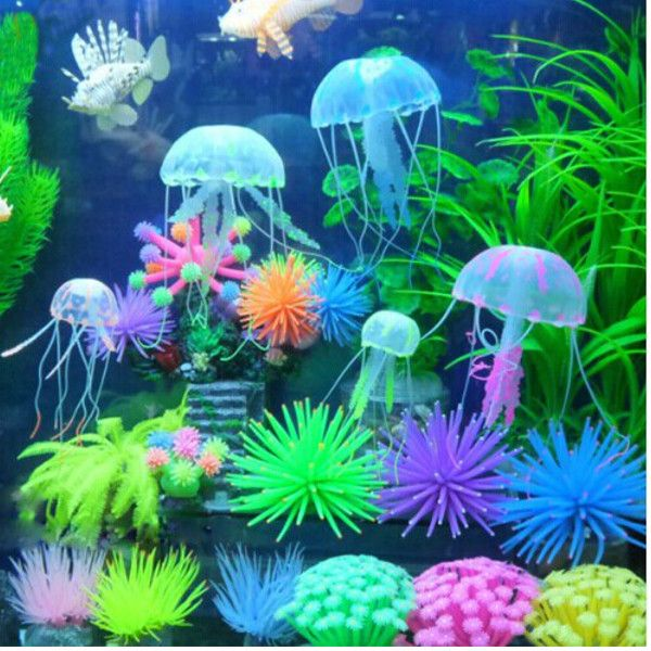 Aquarium Silicone Artificial Coral Plant Under Water Ornament