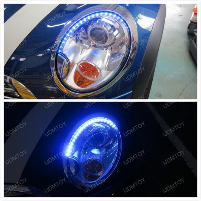 Mini Cooper With An Eyelash Like Led Strips For Headlights Mini Cooper Mini Cooper Accessories Mini Cars
