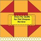 The Shoo Fly Quilt pattern is made up of squares and triangles. Paper quilt squares can be made by kindergartners to review their geometric study o...
