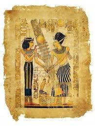 pergamino antiguo papiro Foto de archivo -