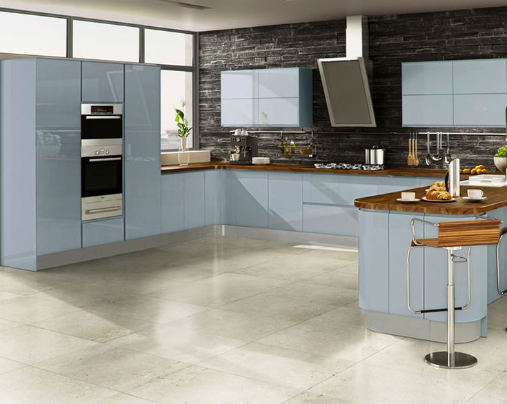 25 best ideas about high gloss kitchen doors on pinterest for Blue sky kitchen designs