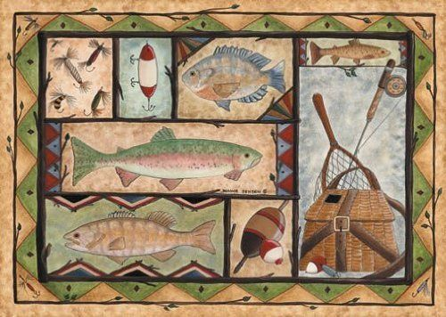 24 best fish rugs images on pinterest fish art rugs and for Fish bathroom rug