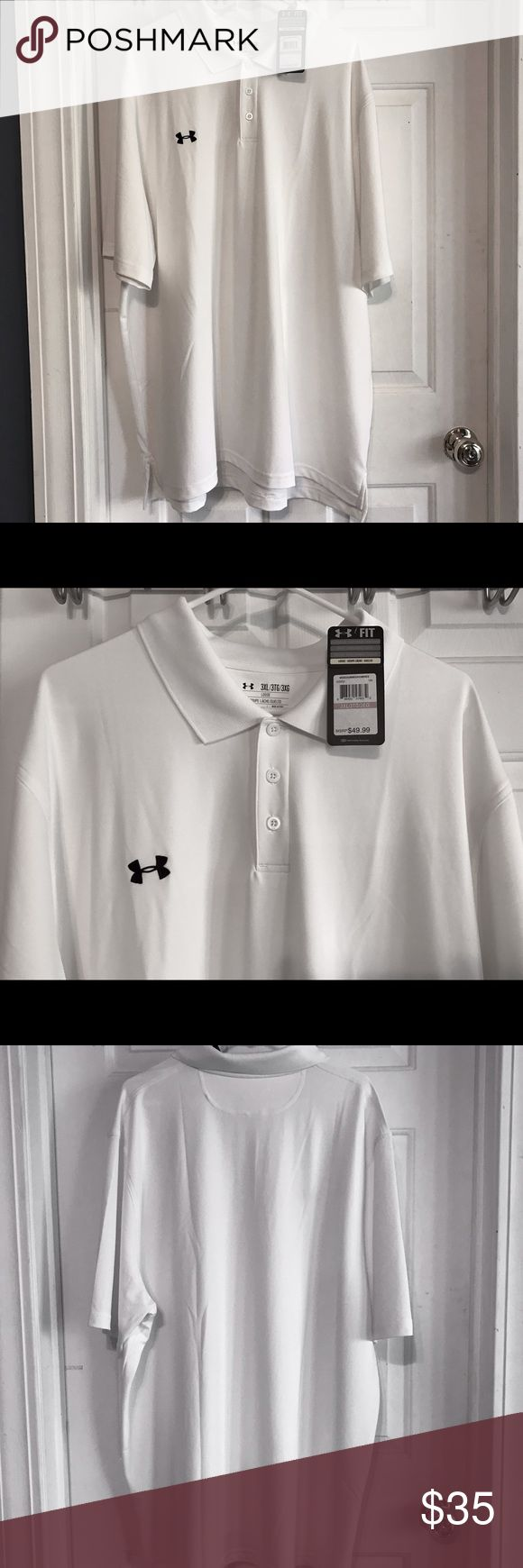 ♨️FINAL MARKDOWN♨️ MEN's Under Armour Shirt NWT. Polo style loose fit shirt. Under Armour Shirts Polos