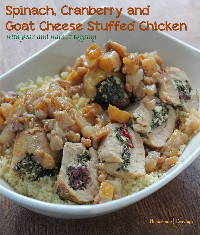 Recipe | Cheese Stuffed Chicken, Stuffed Chicken and Goat Cheese