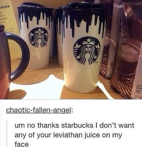 Damn you, Starbucks..... https://www.facebook.com/SPNWorldFandom