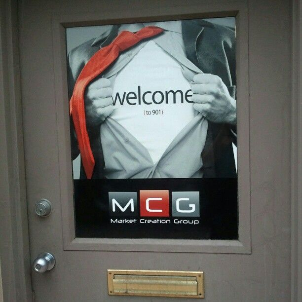 MCG's new office signage. You can actually find us now!