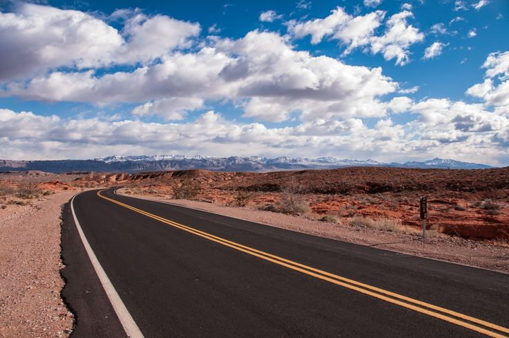 Desert Road - Just outside Valley of Fire National Park in Nevada.