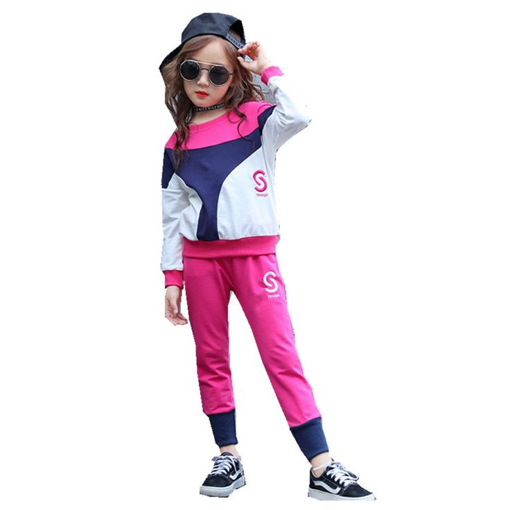 FTSUCQ Girls Pullover Sports Tracksuits Long Sleeve Shirt Top + Pants,Rosered 150. Two-pieces sets, Suitable for 100CM-150CM height girls with age 3-11 Years old little and big girls. Color: black, rosered with contrast color for your reference, including long sleeve shirt top and trousers. Material: cotton, cool and comfortable for girls. Suitable for dancing, sports, beach, seaside, holiday, indoor and outdoor, school, kindergarten, etc. 9-18 business days delivery to US by United…