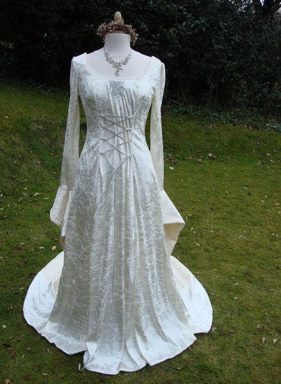 celtic style wedding dress scottish and irish wedding