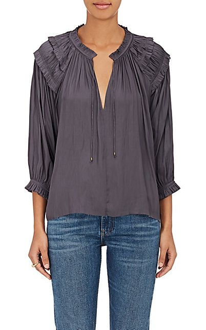 Ulla Johnson Amaya Tech-Satin Blouse - Tops - 505018312