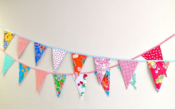 Decorate the party with The Original Oilcloth Party Banners by modernjune on Etsy. ❤️
