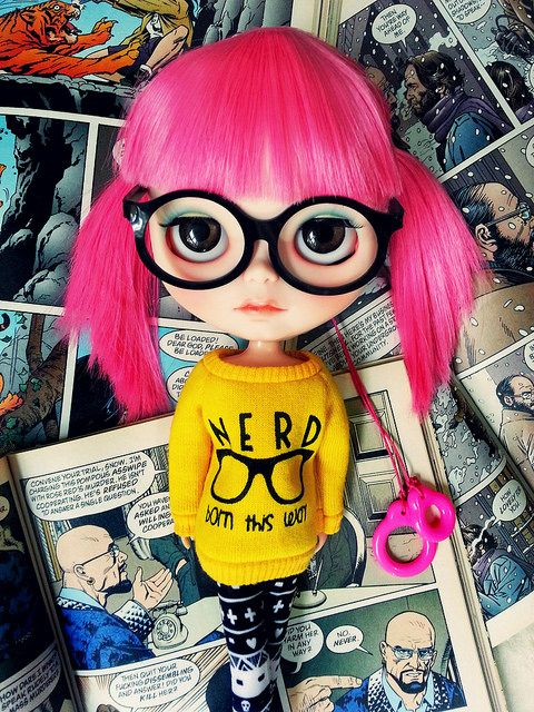 Blythe. Nerd - born this way #dollcollecting