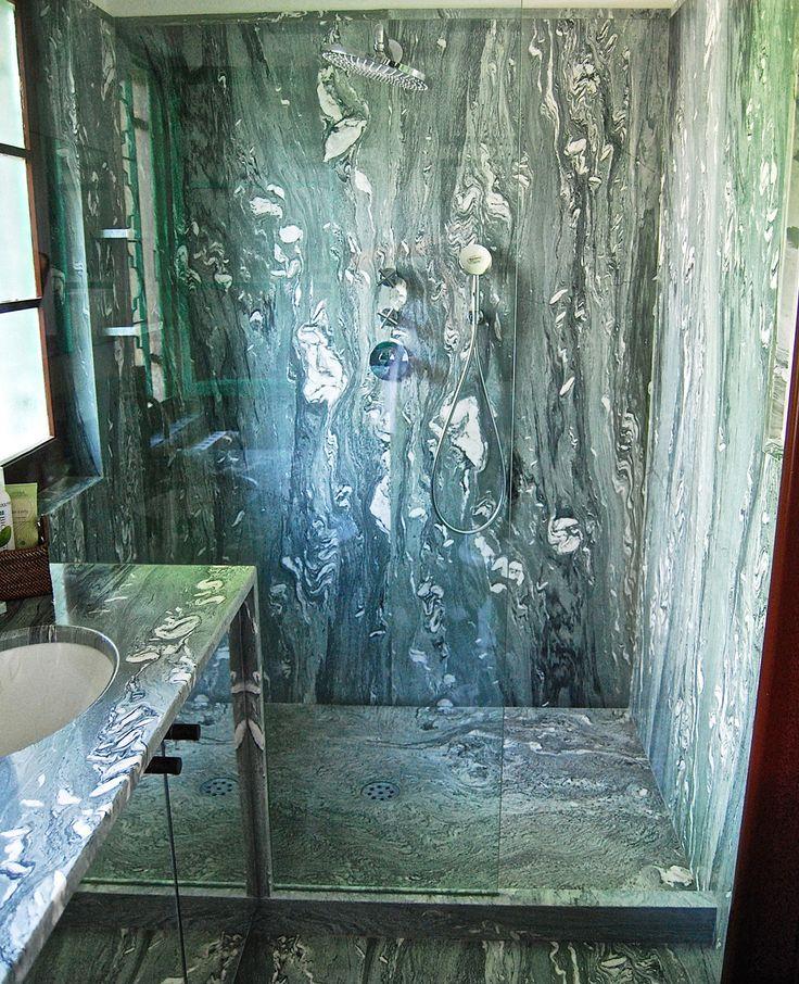 0001 REALIZZATO progetto doccia in marmo cipollino apuano