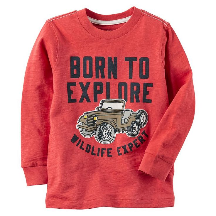 "Boys 4-7 Carter's ""Born To Explore Wildlife Expert"" Graphic Tee, Red"