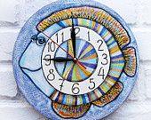 Голубая рыба настенные часы, домашний декор для детей Детские Малыш Мальчик Девочка питомник игровая комната кухня