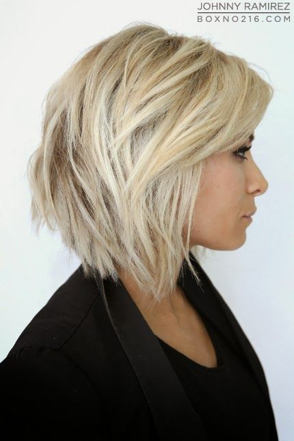 Love cut and color. Would keep it dark underneath.