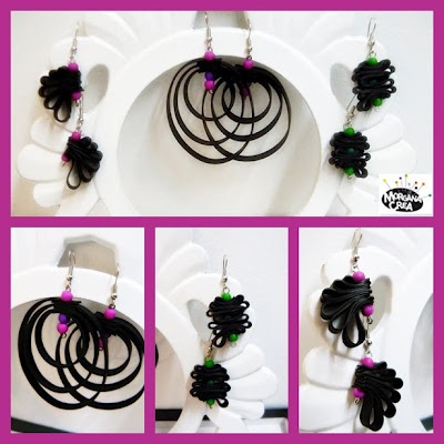 "Cool ""green"" jewels by Morgana Crea, Turin - Italy.  Handmade with recycled inner tube."