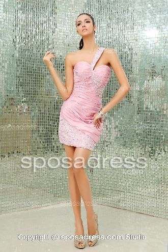 Lovely Sweetheart Princess Sequined Pink Tulle Cocktail Dress For Juniors