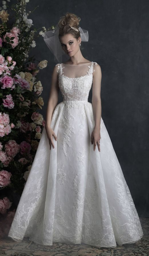 Featured Dress: Allure Bridals; Wedding dress idea.