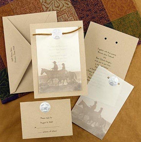 Country/western wedding invitation| Cowboy wedding ideas