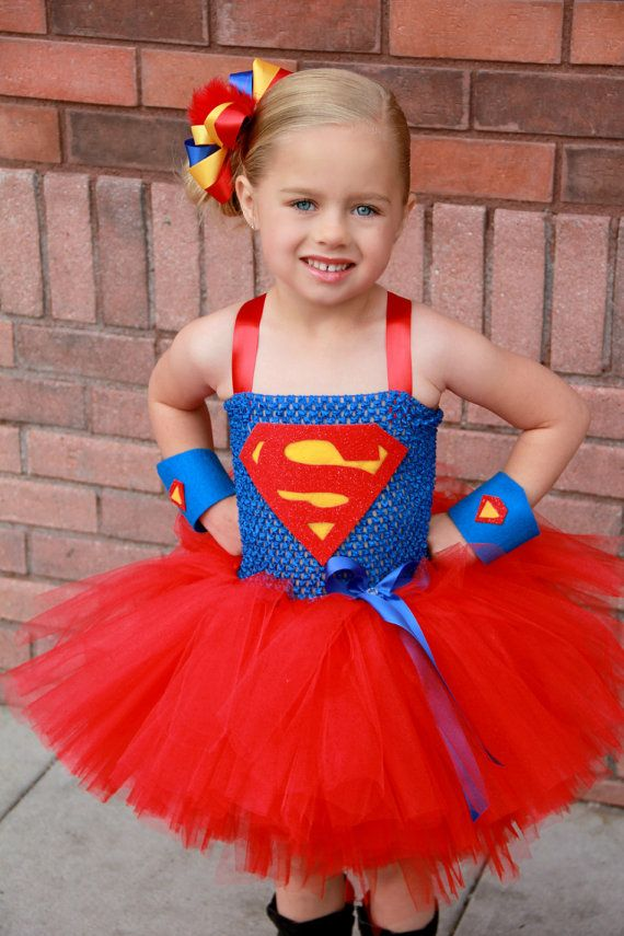 Super girl superhero tutu dress and costume. -- I die.. just a little bit.