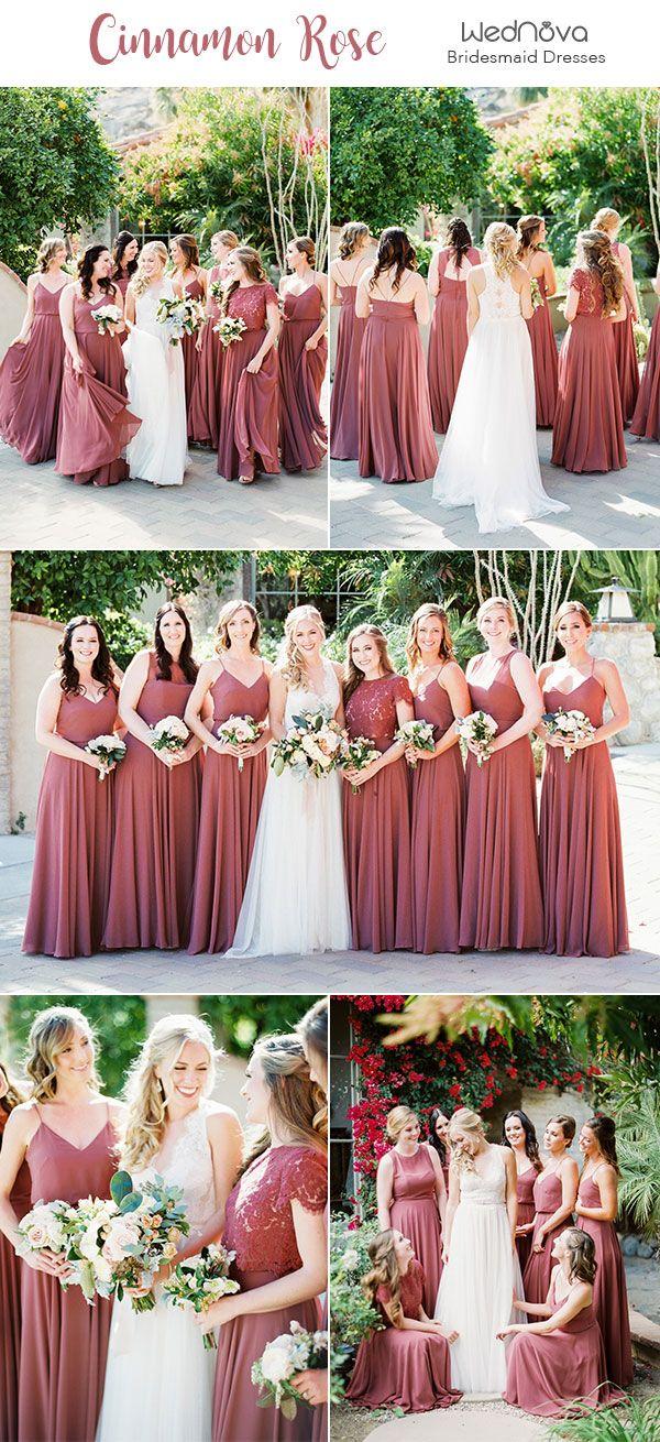 Cinnamon Rose Bridesmaid Dresses
