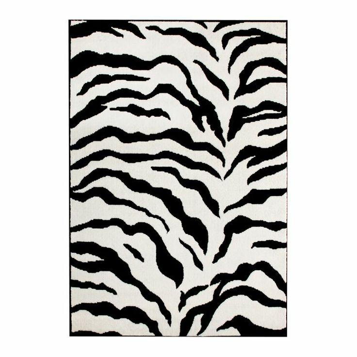 Earth Zebra Print Rug