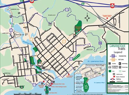 Map Gananoque Ontario