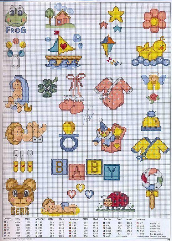 M s de 25 ideas fant sticas sobre punto de cruz bebe en - Telas con motivos infantiles ...