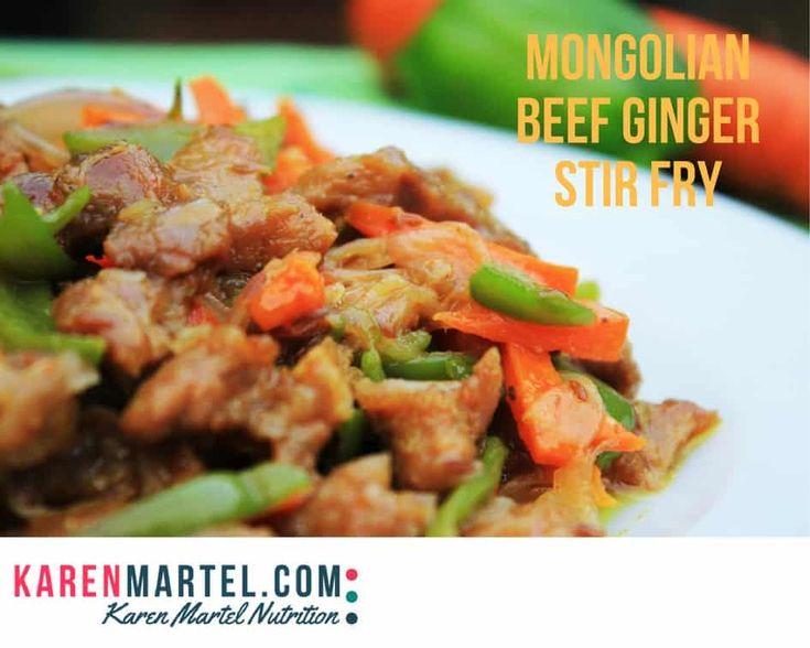 Mongolian Beef Ginger Stir Fry - Karen Martel Nutrition