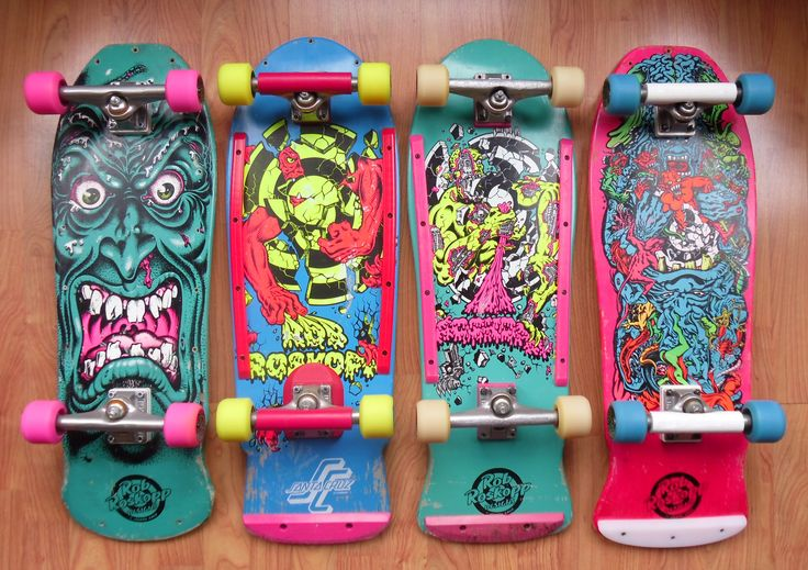Santa Cruz Rob Roskopp Vintage Skateboard