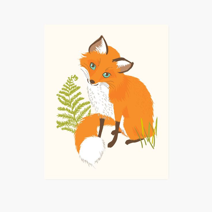 This little fox is a great addition to a woodland | forest-themed nursery or playroom. - 8x10 - Heavyweight paper - Printed in the USA - Carefully packaged in cello sleeve and shipped flat in rigid ma