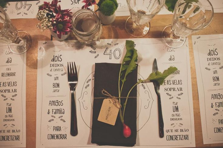 Personalized paper placemats for a special occasion | via Little Upside-down Cake