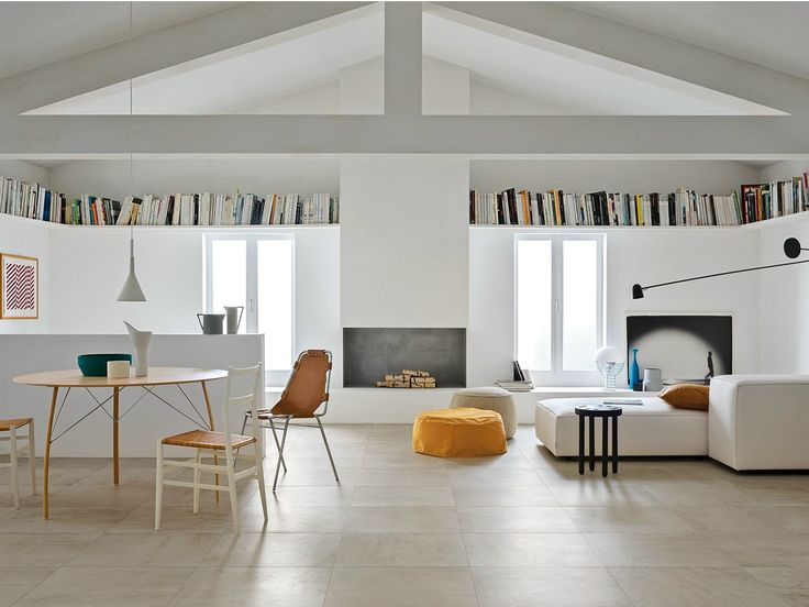Porcelain stoneware flooring with concrete effect BLEND by MARAZZI