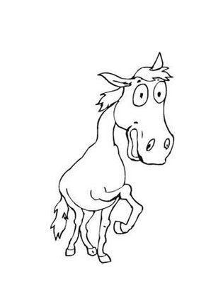 ausmalbild karikatur pferd zum ausmalen. #ausmalbilder | #