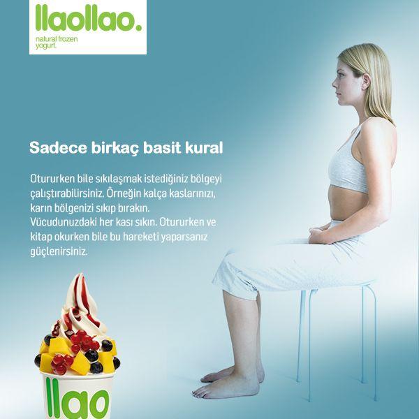 Ünlü oyuncu Cameron Diaz'ın 'The Body Book' kitabından sıkılaşmak için bir öneri. #llaollao #frozenyoğurt