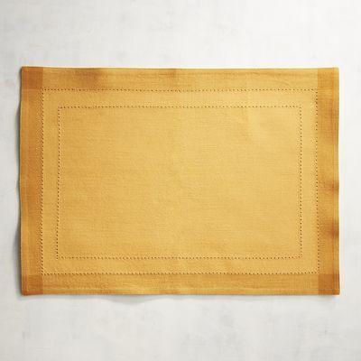 Hemstitch Marigold Yellow Placemat