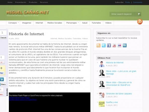 Historia de Internet en  8 minutos, MiguelCanas.Net