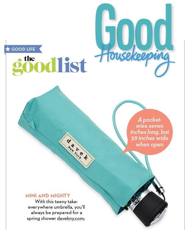 Davek on Good Housekeeping's Good List! Mini and mighty