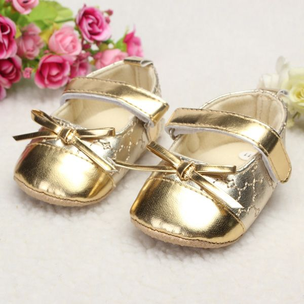 Infant Toddler Baby Girl Leather Bowknot Soft Sole Shine Walking Lovely Crib Parm Newborn Shoes  Worldwide delivery. Original best quality product for 70% of it's real price. Hurry up, buying it is extra profitable, because we have good production sources. 1 day products dispatch from...