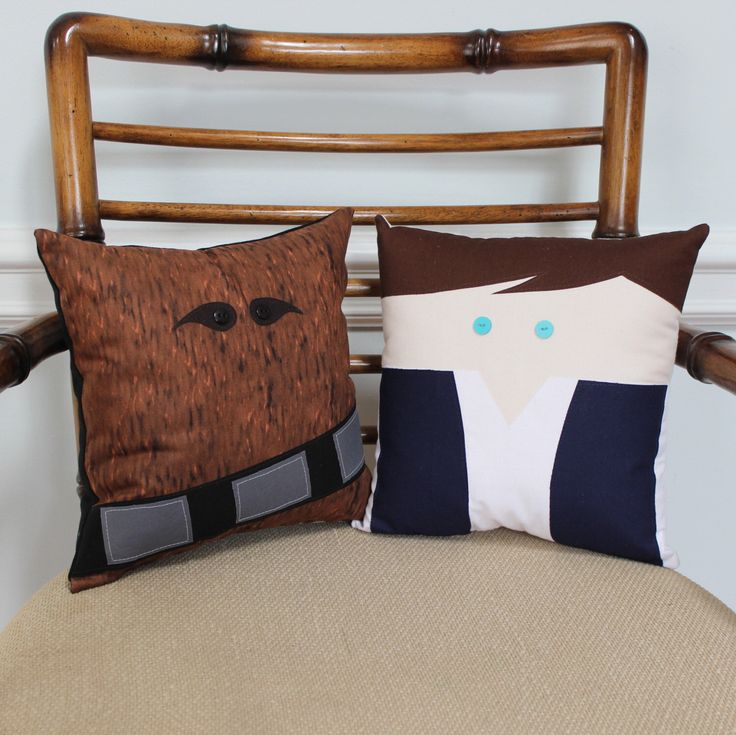 For Henry's room. Star Wars Inspired Han Solo and Chewbacca Decorative Pillow Set by MarvelousKatastrophe on Etsy https://www.etsy.com/ca/listing/499383630/star-wars-inspired-han-solo-and