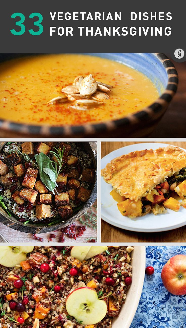 33 Vegetarian Thanksgiving Recipes Made With Real Food (Not Tofurkey) #recipes #healthy #vegetarian