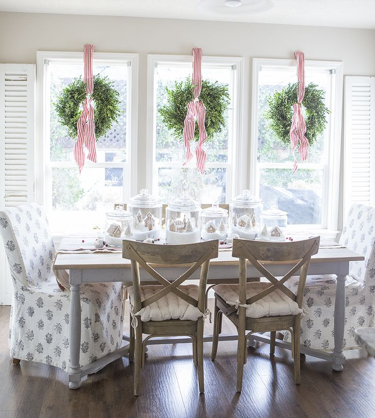 wreaths, windows, glass jars, shutters @ellaclaireinspired