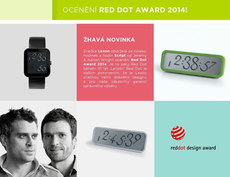 Cena za design hodin a hodinek Script  Red Dot Award 2014