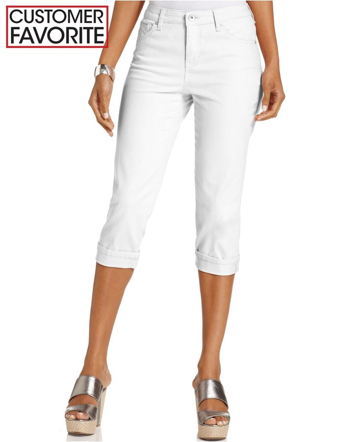 Style&co. Tummy-Control Cuffed Capri Jeans - Jeans - Women - Macy's