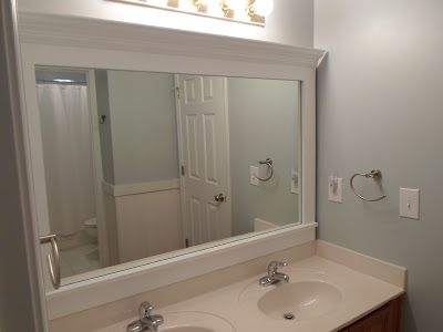 Frame A Mirror With Plastic Clips By Hiding The Clips Behind Crown Molding I Like This Option