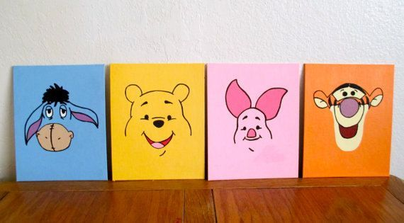 """Disney painted canvas for baby nursery.  Canvas sizes 8x10"""" $10, 12x12"""" $20, and 11x14"""" $20"""
