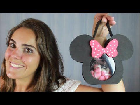 Lembrancinha da Minnie - bolsa ou baleiro
