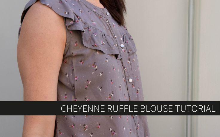 CHEYENNE RUFFLE BLOUSE TUTORIAL - Hey June Handmade